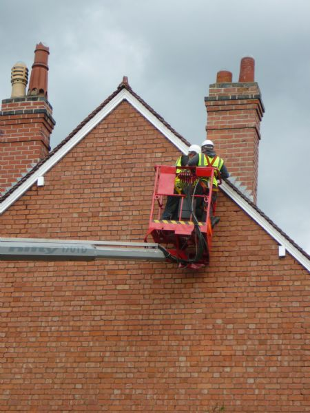 Roofer roofing chimney repair